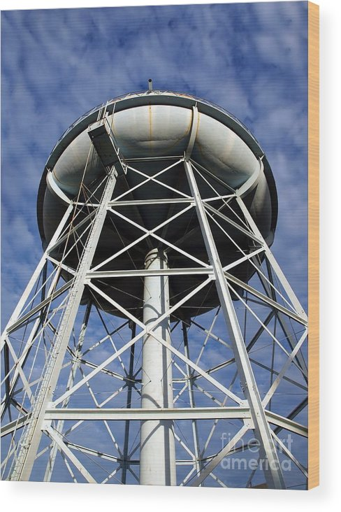Tower Wood Print featuring the photograph Vintage Water Tower by Yali Shi