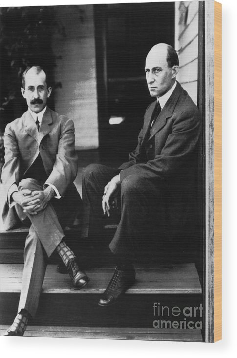 19th Century Wood Print featuring the photograph Wright Brothers by Granger