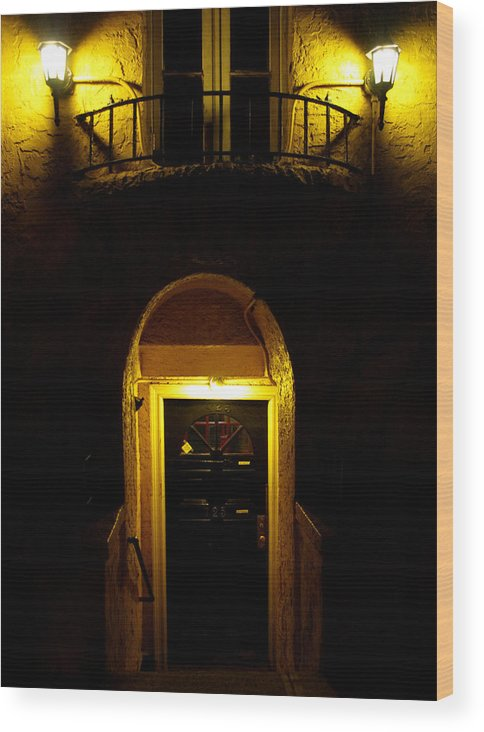 New York City Wood Print featuring the photograph Yellow Light by Dorothy Lee