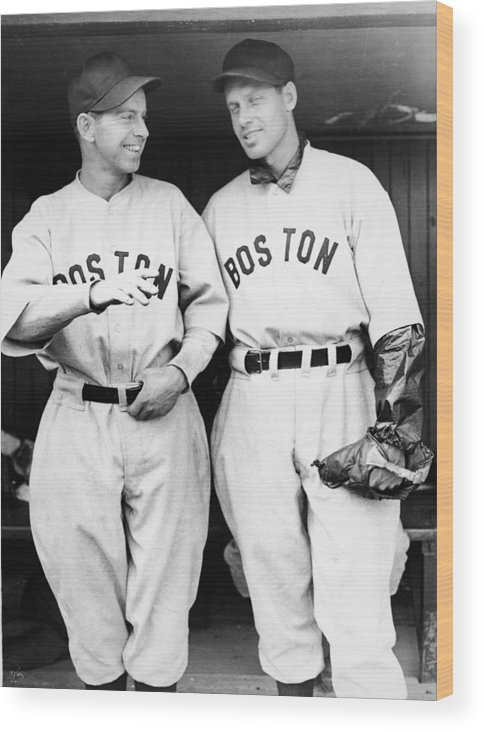 Plan Wood Print featuring the photograph Rick And Wes Ferrell Of The Red Sox by Fpg