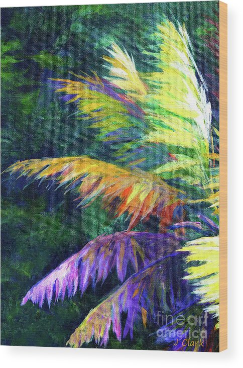 Art Wood Print featuring the painting Soft Palm by John Clark