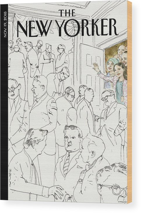 Welcome To Congress Wood Print featuring the drawing Welcome To Congress by Barry Blitt