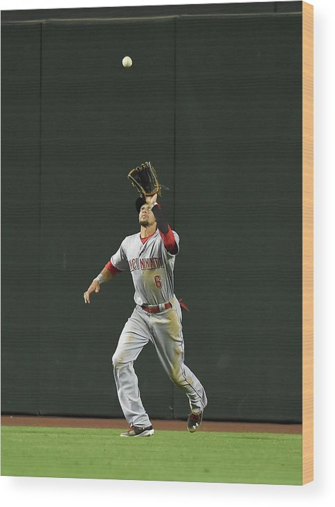 American League Baseball Wood Print featuring the photograph Billy Hamilton by Norm Hall