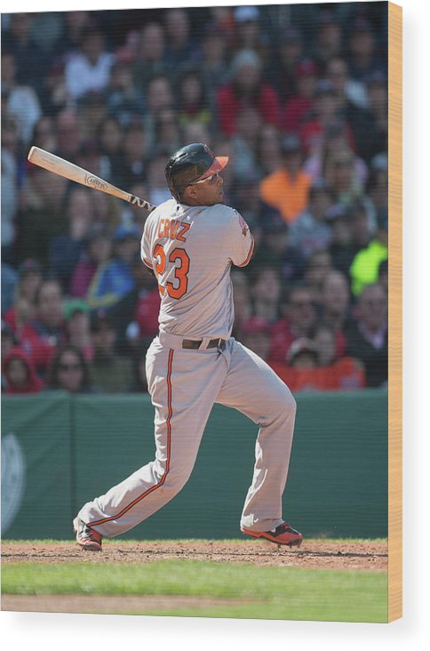 East Wood Print featuring the photograph Nelson Cruz by Rob Tringali