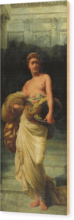 Daughter Wood Print featuring the painting The Daughter Of Herodias, Salome by Alfred Sacheverel Coke