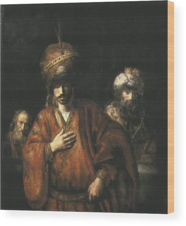 Three Wood Print featuring the photograph Rembrandt, Harmenszoon Van Rijn, Called by Everett