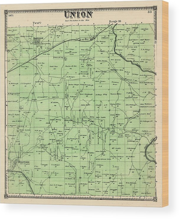 Ohio, 1871, Union Township, Union, Knox County Wood Print on vanderburgh county ohio map, hopewell twp beaver county pa map, crawford county, morrow county ohio map, franklin county, fulton county, fairfield county, tioga county ohio map, jackson county, monroe county, lancaster county ohio map, mason county ohio map, lincoln county ohio map, ohio state geography map, mount vernon, marion county, ohio economy map, richland county, delaware county, chester county ohio map, greene county, holmes county, wyandot county ohio map, coshocton county ohio map, ohio ohio map, avon ohio city limits map, hamilton county, jefferson county, fayette county, lorain county, lake county, clearcreek township ohio map, mad river township ohio map, madison county, knox st fort bragg installation map, hardin county, ohio amish communities map, richland county ohio map, clermont county ohio map,