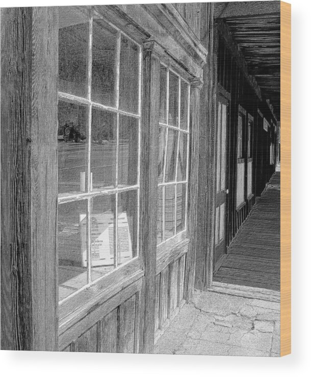 Windows Wood Print featuring the photograph Window Shopping    Pencil by Mark Eisenbeil