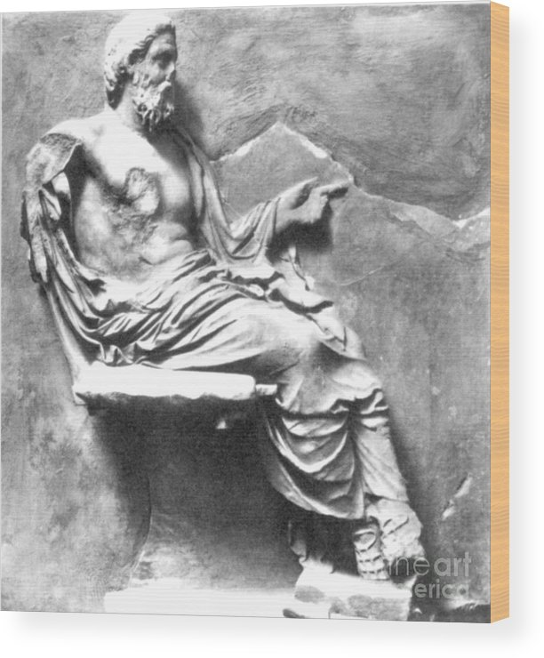 4th Century B.c. Wood Print featuring the photograph Asclepius by Granger