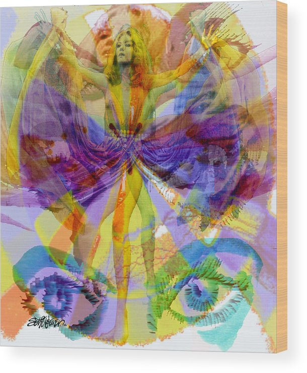 Dance Of The Rainbow Wood Print featuring the digital art Dance Of The Rainbow by Seth Weaver