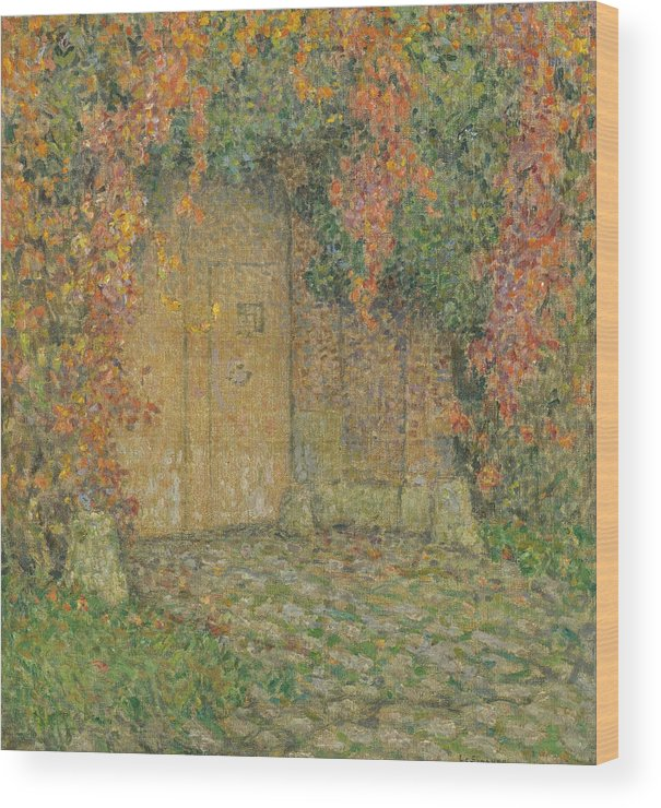 Le Portail Wood Print featuring the painting Le Portail by Henri Le Sidaner