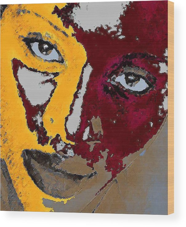 Portrait Wood Print featuring the photograph Painted Face by LeeAnn Alexander