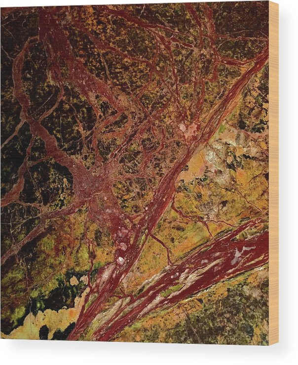 Abstract Wood Print featuring the photograph Red And Yellow Abstract by Denise Mazzocco