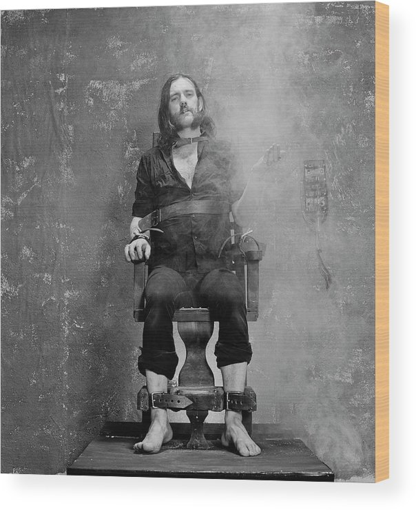 1980-1989 Wood Print featuring the photograph Smokin Lemmy by Fin Costello