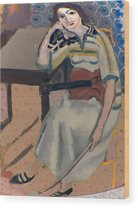 Homage To Matisse Wood Print featuring the painting Silent Note by Noredin Morgan