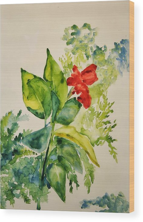 Wood Print featuring the painting Passion by Helen Hickey