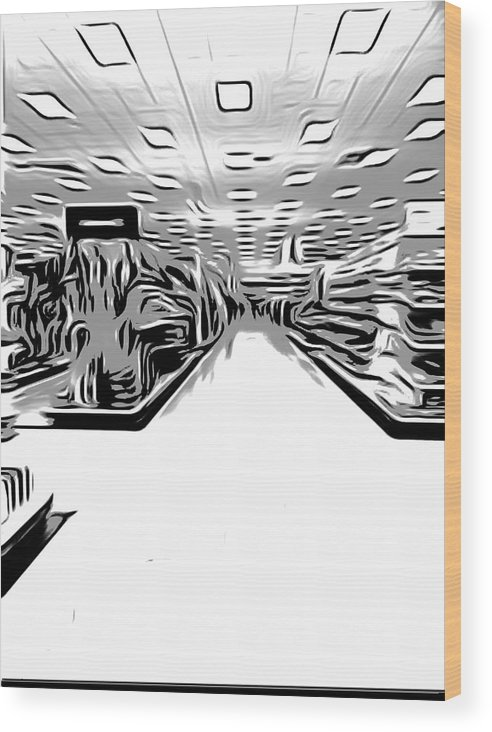 Abstract Wood Print featuring the photograph Store by Dart and Suze Humeston