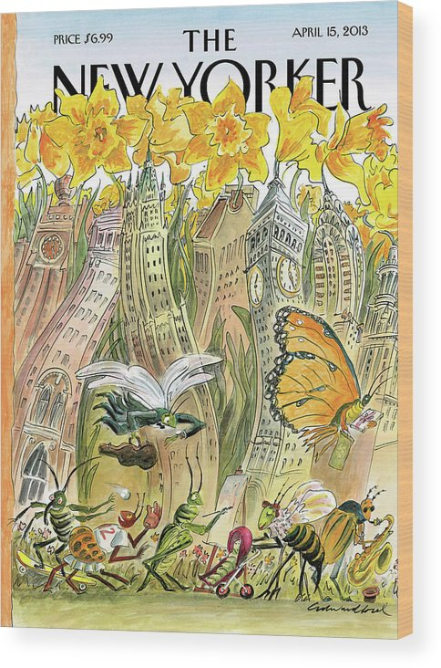 Blossom Wood Print featuring the painting Blossom Time by Edward Sorel