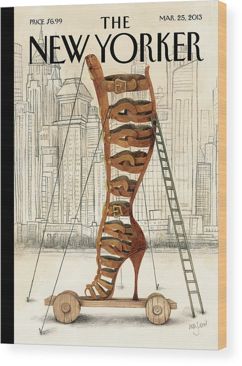 Fashion Wood Print featuring the painting Art and Architecture by Ana Juan