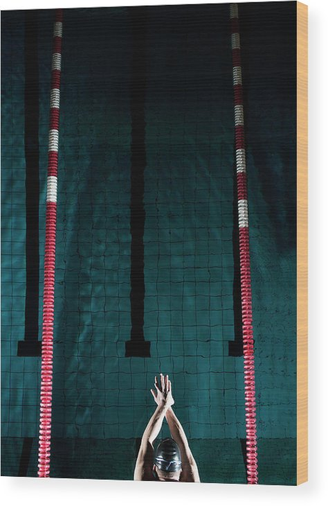 Human Arm Wood Print featuring the photograph Professional Swimmer by Henrik Sorensen