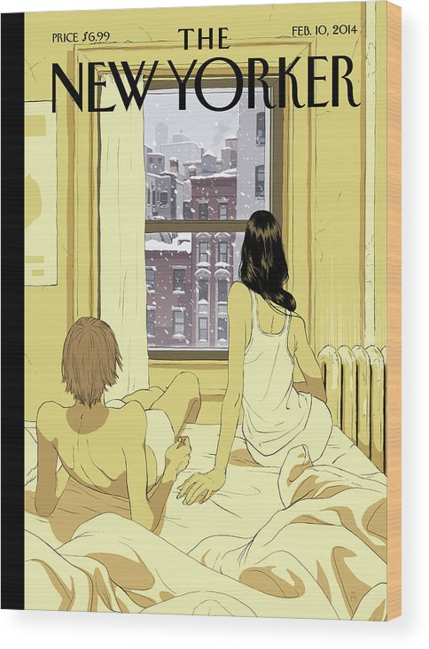 Seasons Wood Print featuring the painting Perfect Storm by Tomer Hanuka