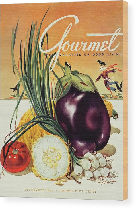 Food Wood Print featuring the photograph A Gourmet Cover Of Vegetables by Henry Stahlhut
