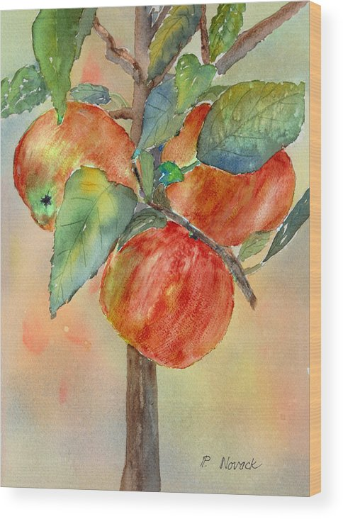 Apple Wood Print featuring the painting Apple Tree by Patricia Novack