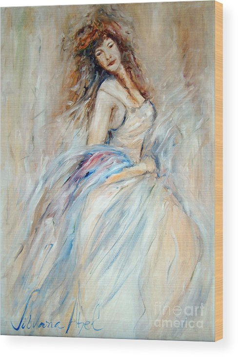 Contemporary Art Wood Print featuring the painting Beautiful by Silvana Abel