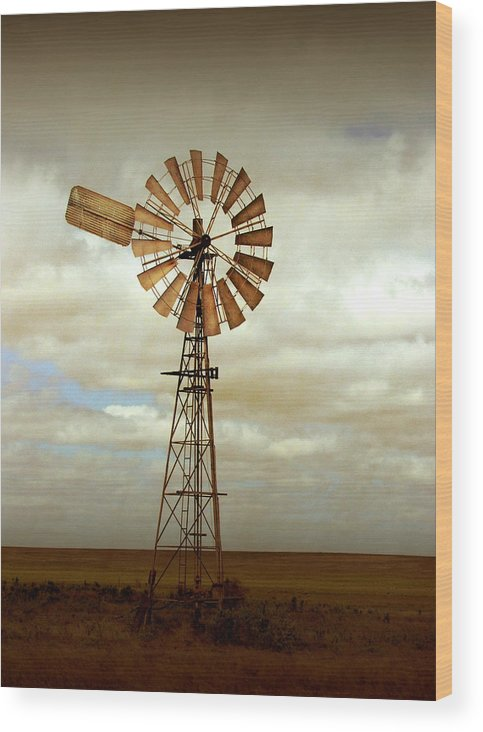 Windmill Wood Print featuring the photograph Catch the Wind by Holly Kempe