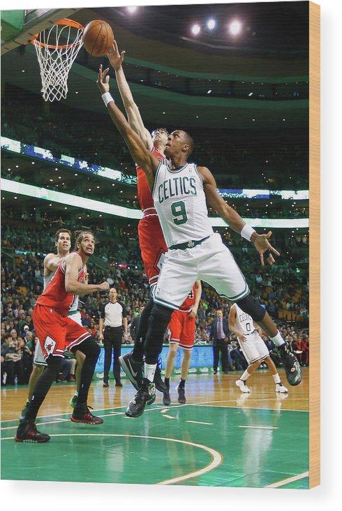 Chicago Bulls Wood Print featuring the photograph Chicago Bulls V Boston Celtics by Jared Wickerham