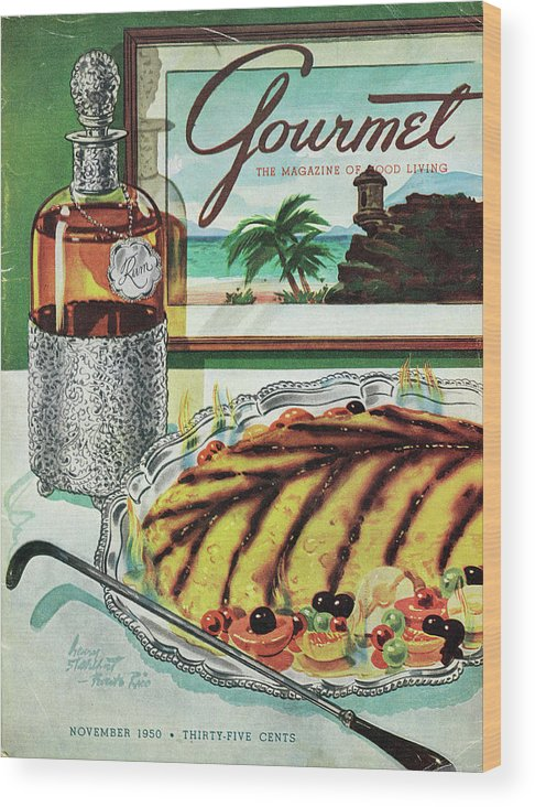 Food Wood Print featuring the photograph Gourmet Cover Of An Omelette Au Ruhm by Henry Stahlhut