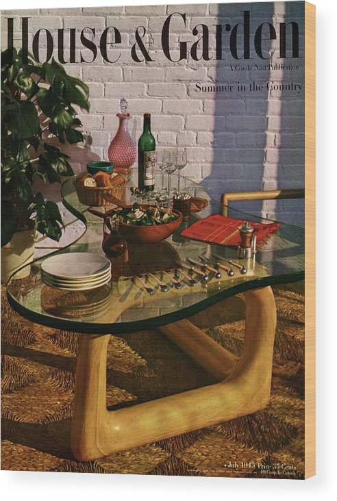 House And Garden Wood Print featuring the photograph House And Garden Cover Featuring Brunch by John Rawlings