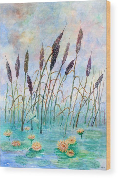 Pond Wood Print featuring the painting Joy Of Summer by Ben Kiger