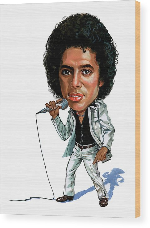 Michael Jackson Wood Print featuring the painting Michael Jackson by Art