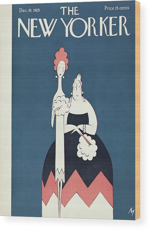Art Deco Wood Print featuring the painting New Yorker December 19th, 1925 by Julian de Miskey