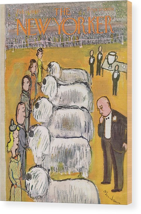 Judge Wood Print featuring the painting New Yorker February 14th, 1948 by Abe Birnbaum
