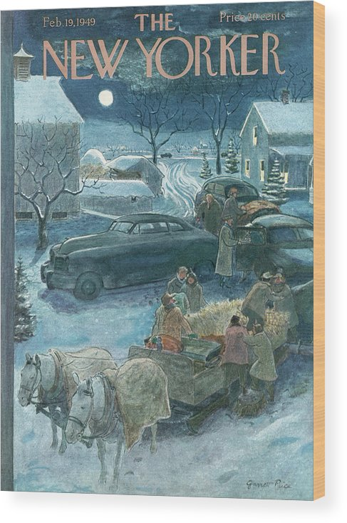 Season Wood Print featuring the painting New Yorker February 19th, 1949 by Garrett Price