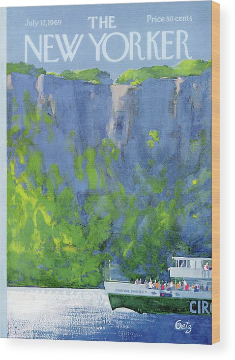 Leisure Wood Print featuring the painting New Yorker July 12th, 1969 by Arthur Getz