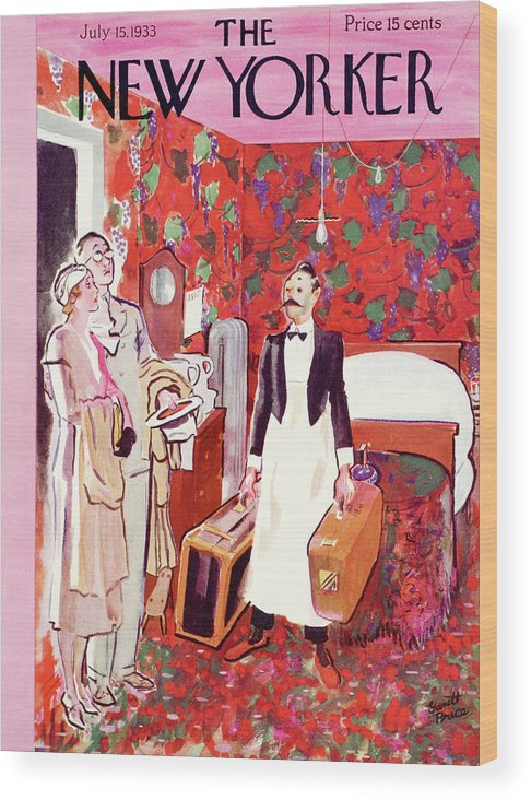 Hotel Wood Print featuring the painting New Yorker July 15th, 1933 by Garrett Price