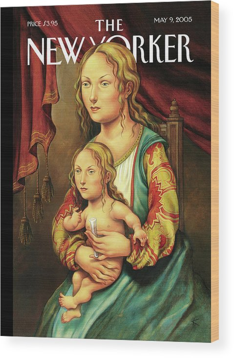 Like Mother Like Daughter Wood Print featuring the painting Like Mother Like Daughter by Anita Kunz
