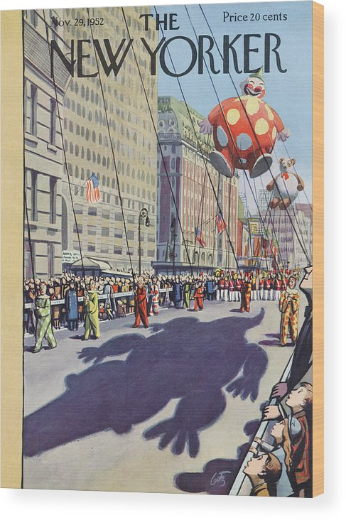 Party Wood Print featuring the painting New Yorker November 29th, 1952 by Arthur Getz