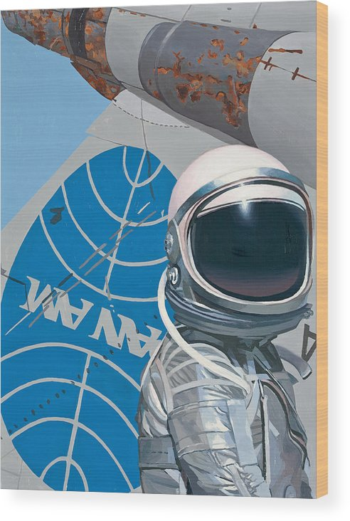 Art Wood Print featuring the painting Pan Am by Scott Listfield