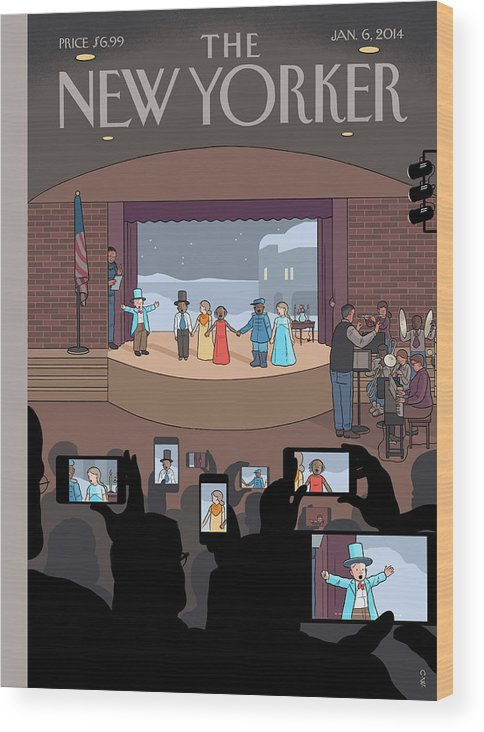 Play Wood Print featuring the painting All Together Now by Chris Ware