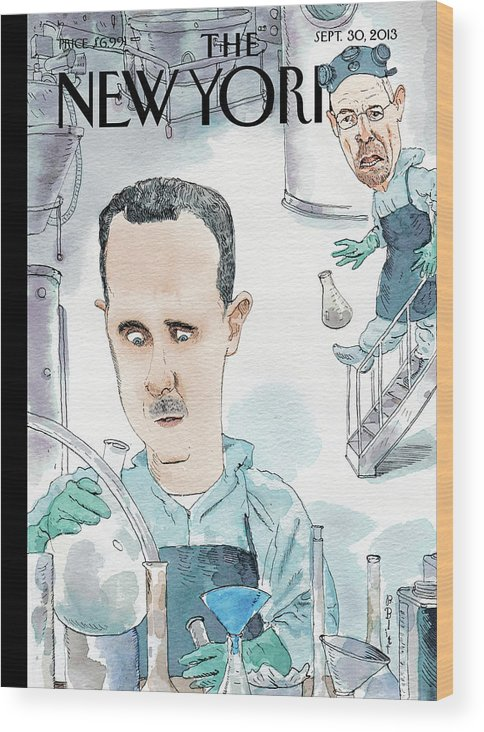 Meth Wood Print featuring the painting Bad Chemistry by Barry Blitt