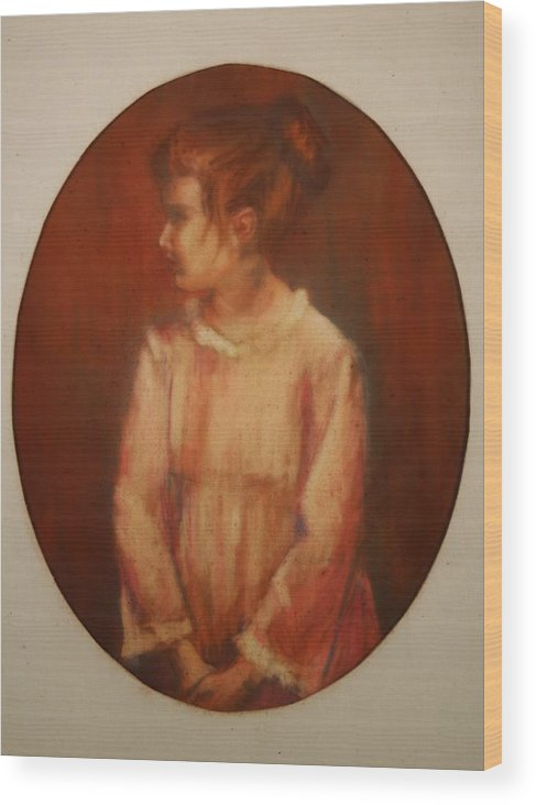 Wood Print featuring the painting Profile by Helen Hickey