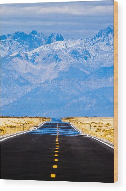 Mountains Wood Print featuring the photograph Road to the Mountains by Alexis Birkill