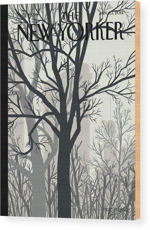 Sunlight On Twenty-third Street Wood Print featuring the painting Sunlight on Twenty-third Street by Jorge Colombo