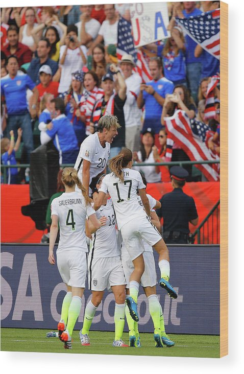 International Match Wood Print featuring the photograph United States V Colombia Round Of 16 - by Kevin C. Cox