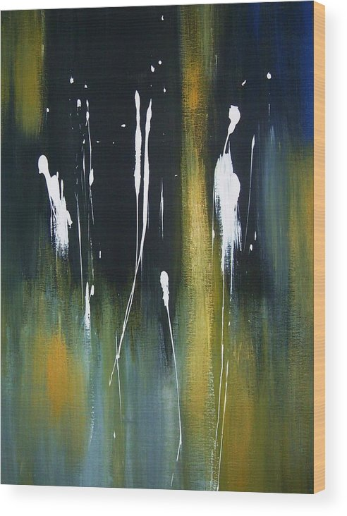 Abstract Wood Print featuring the painting Abstract No 003 by Joseph Ferguson
