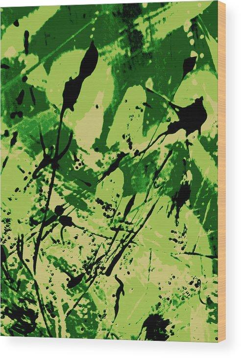 Abstract Wood Print featuring the digital art Biophilia by Joseph Ferguson